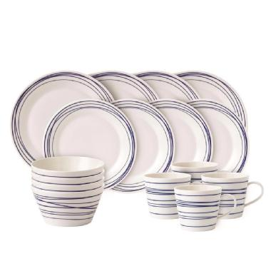 Royal Doulton Pacific Lines 16 Piece Porcelain Dinnerware Set