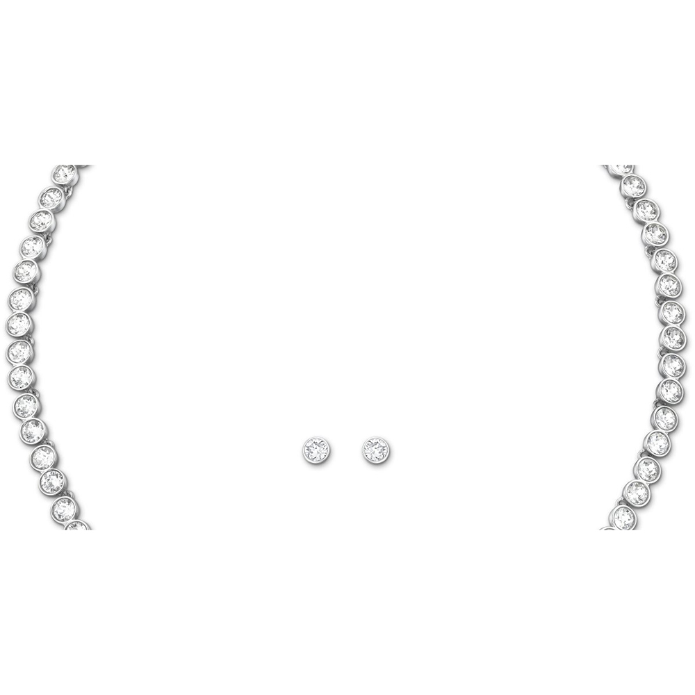 Swarovski Tennis Necklace and Stud Earrings Set
