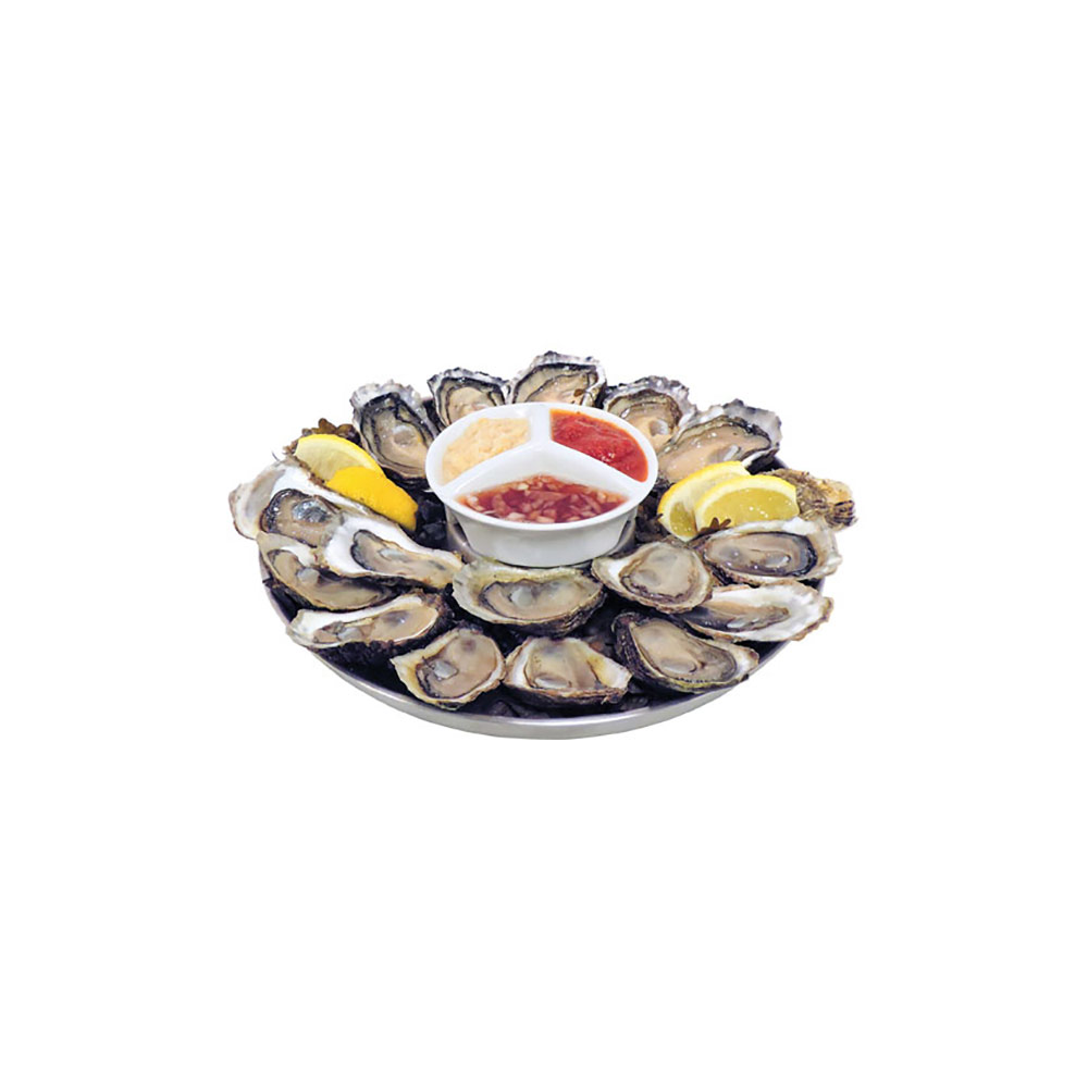 Swissmar Shucker Paddy Stainless Steel Oyster Tray Set and  Malpeque Blade Oyster Knife
