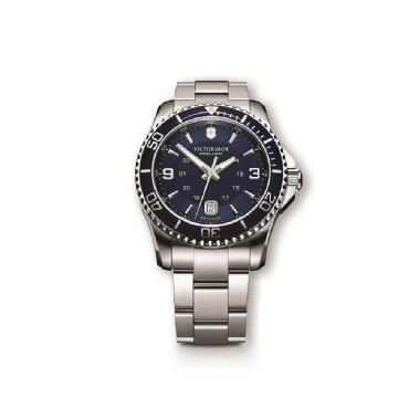 Victorinox Swiss Army Large Maverick Blue Stainless Steel Watch
