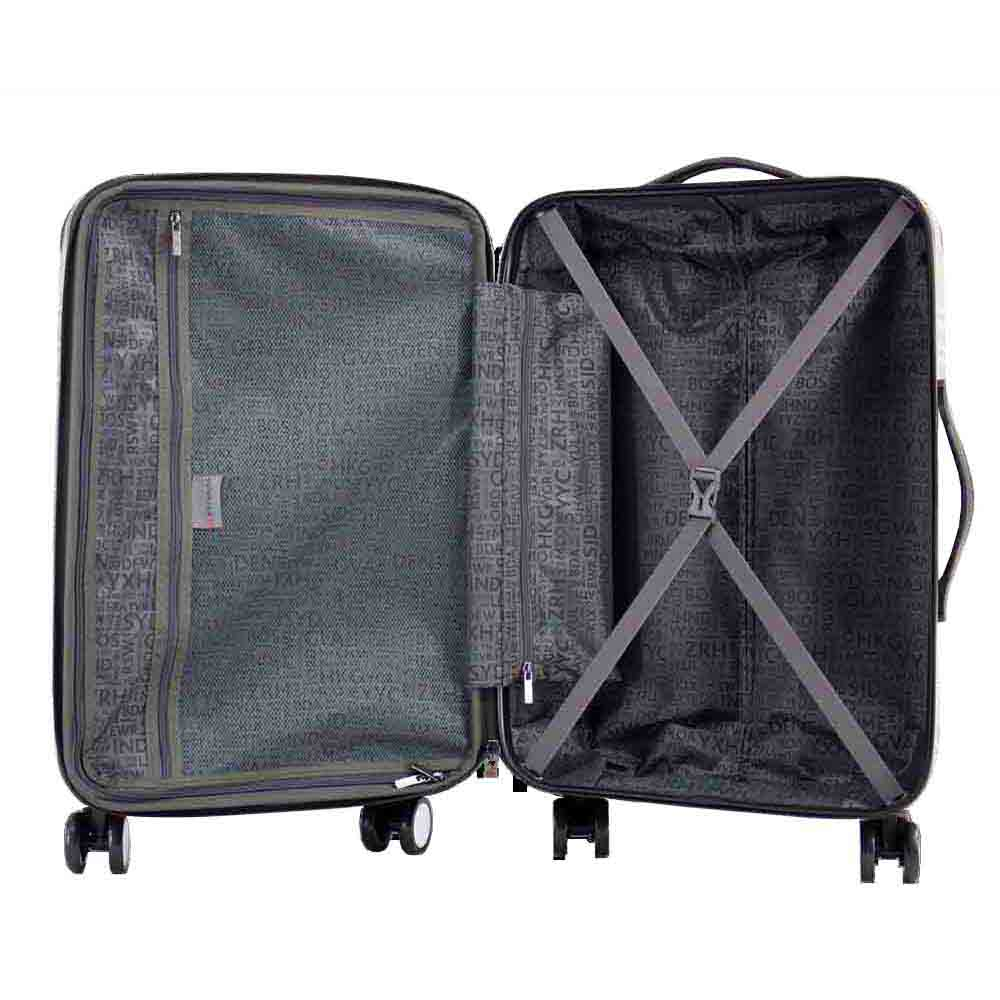 Air Canada 3 Piece Set Lightweight Hardside spinner - Black