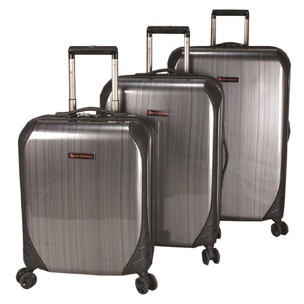 Air Canada deluxe 3 pcs set  Hardside spinner - Charcoal