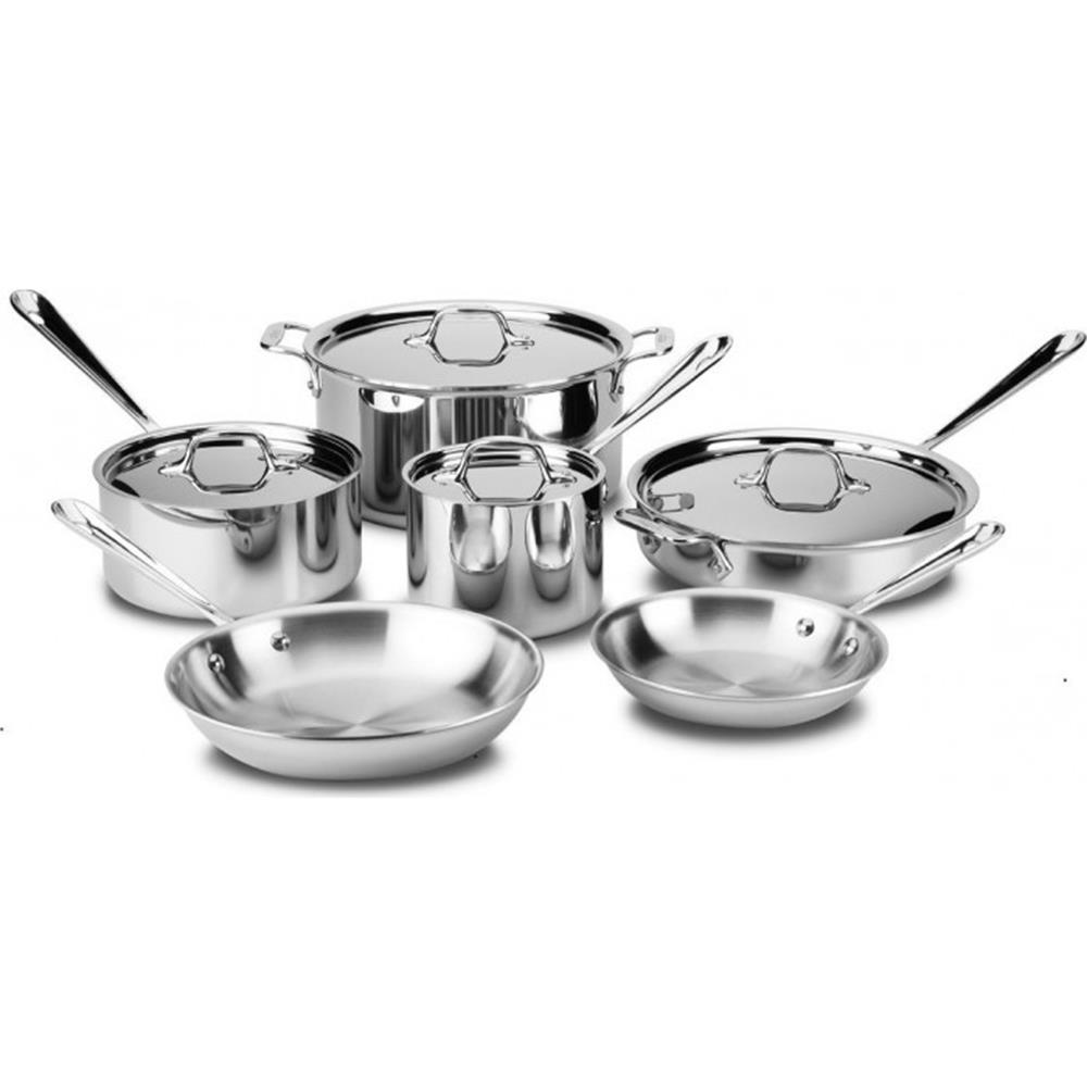 All-Clad 10 piece D3 Cookware Set