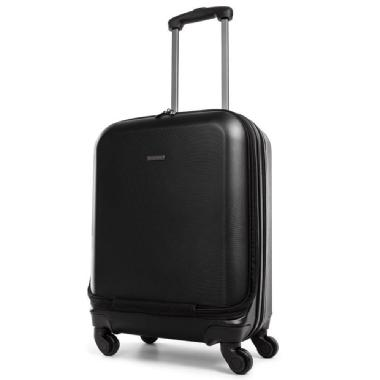 Bugatti 56 cm Hard Side Carry-On Luggage (black)