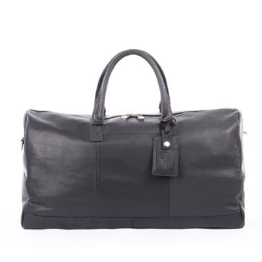 Bugatti Sartoria Top Grain Leather Duffle Bag (Black)