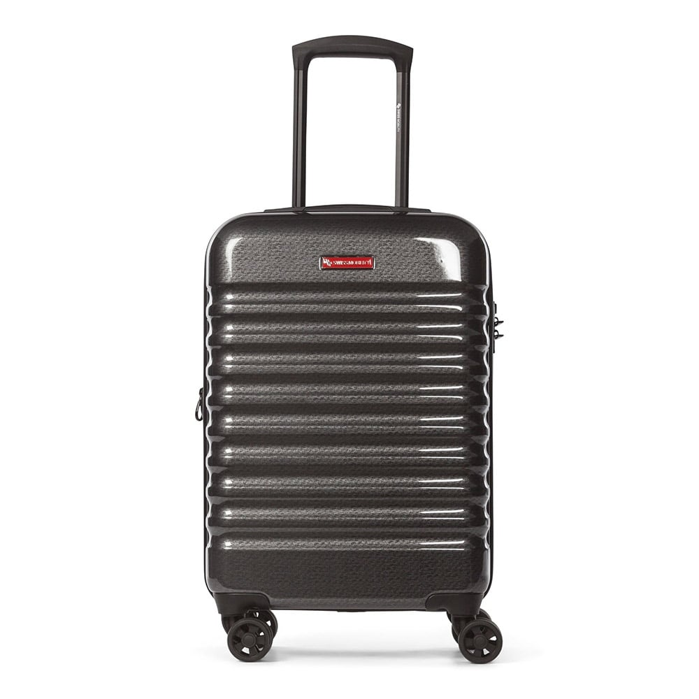 Bugatti Swiss Mobility Stratus Hardside Carry-on Luggage (Charcoal)