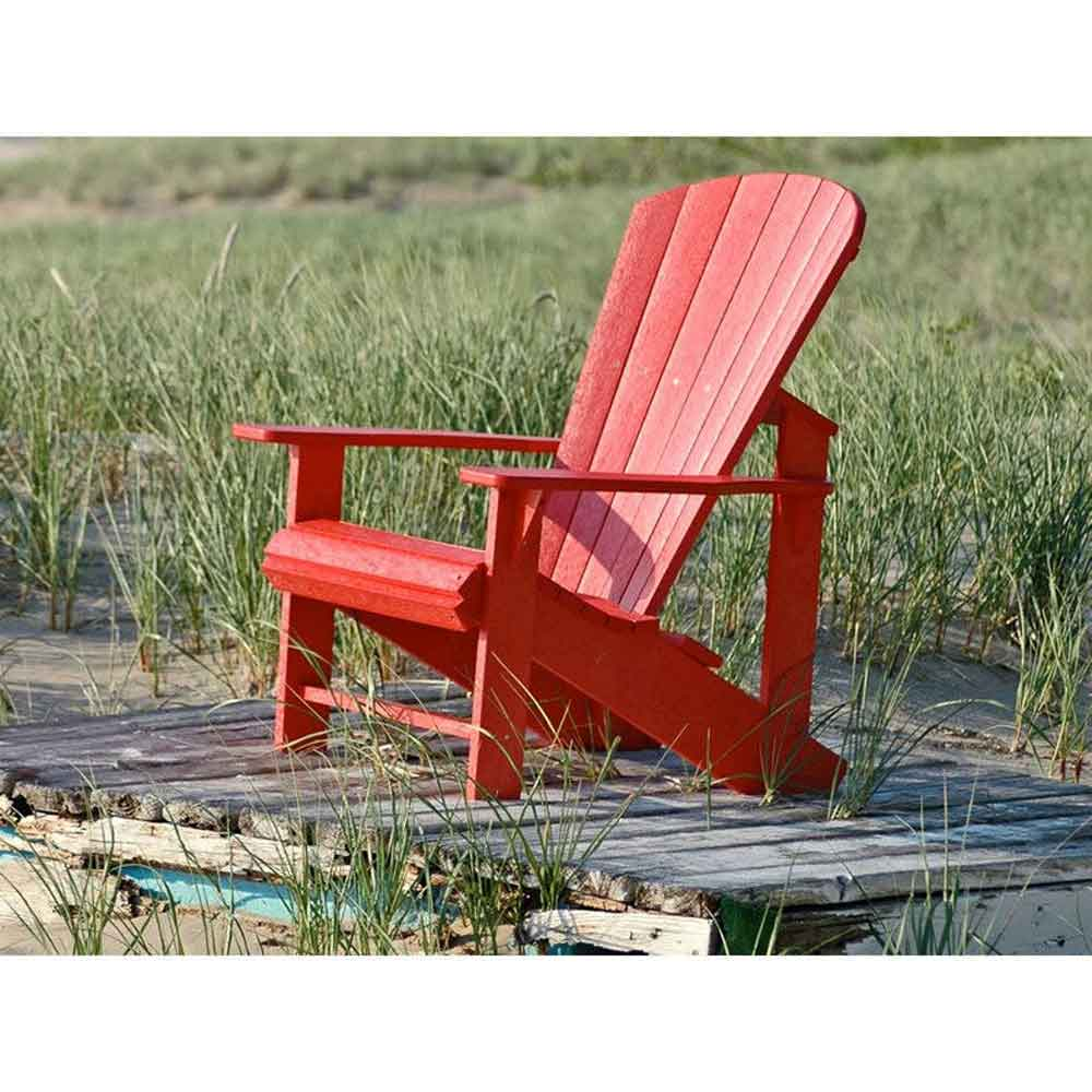 C.R. Plastic Classic Adirondack Chair (Red)