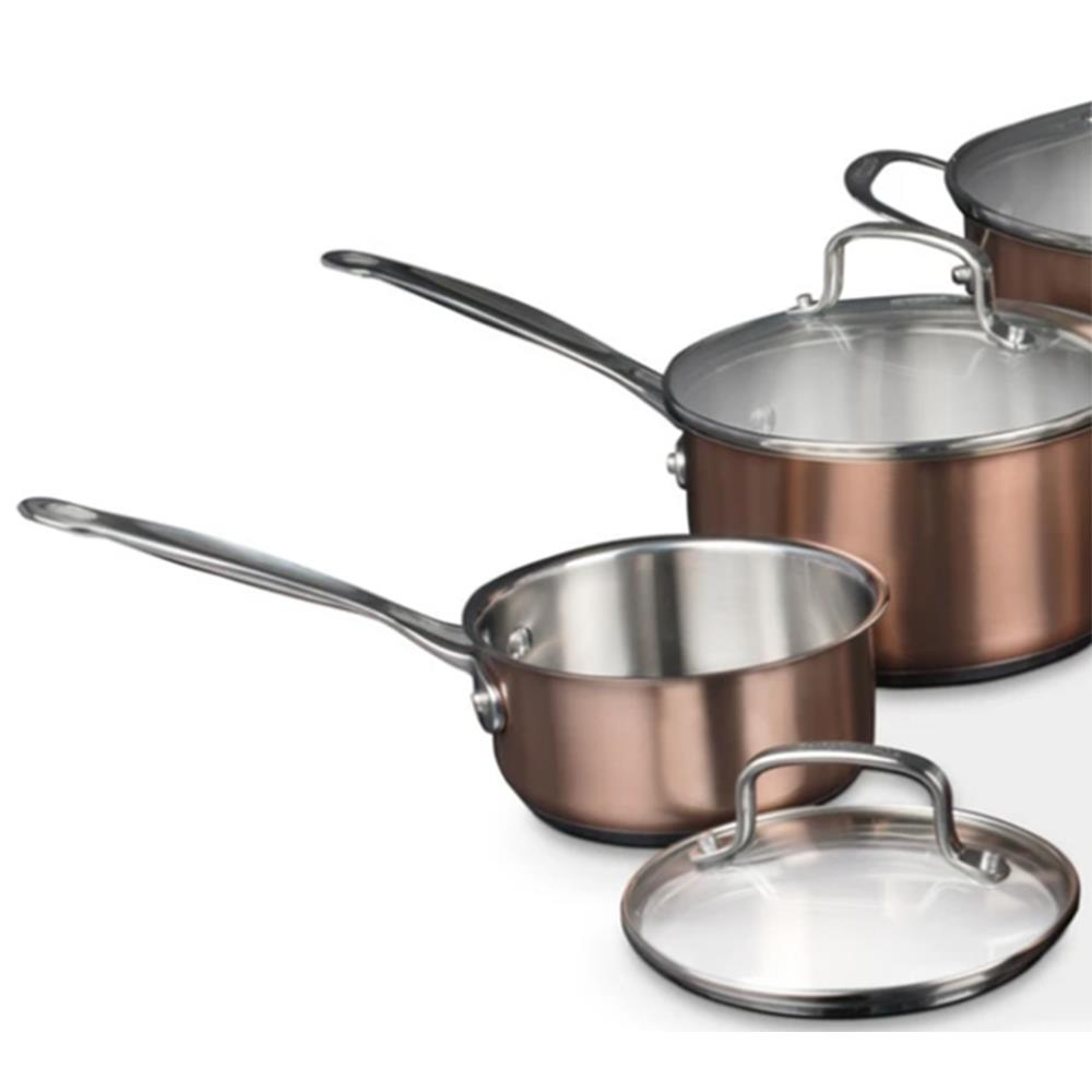 Cuisinart<sup>®</sup> 10 piece Classic Collection Stainless Steel Metallic Copper Cookware Set