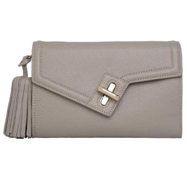 Ela Milck Clutch Classic with Removable Tassel - (stone)