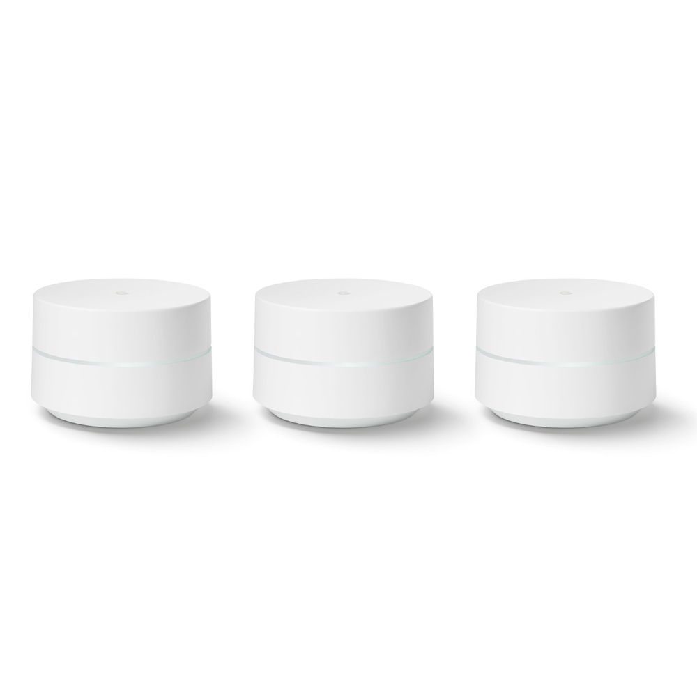 Google Wifi AC1200 Whole Home Mesh Wi-Fi System - Set of 3