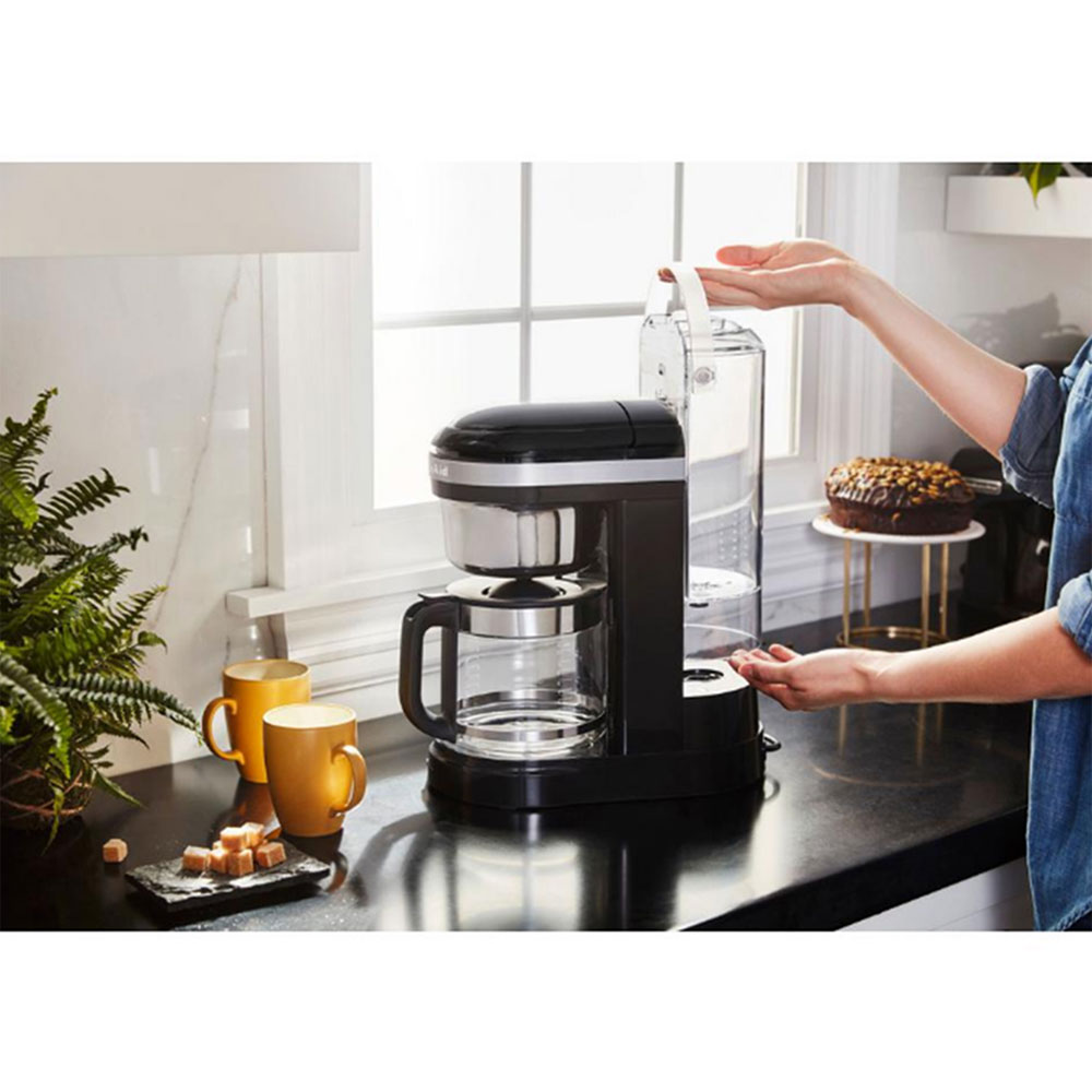 KitchenAid 12 Cup Drip Coffee Maker with Spiral Showerhead (Onyx Black)