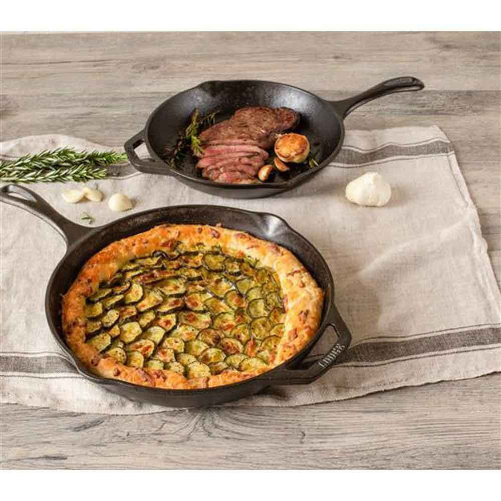 Lodge Chef Collection set of 2 Skillet 10 1/4 + 12 inch
