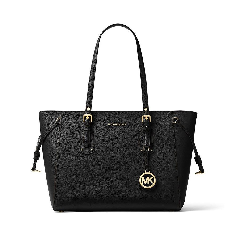 Michael Kors - Voyager Medium Leather Tote (Black)