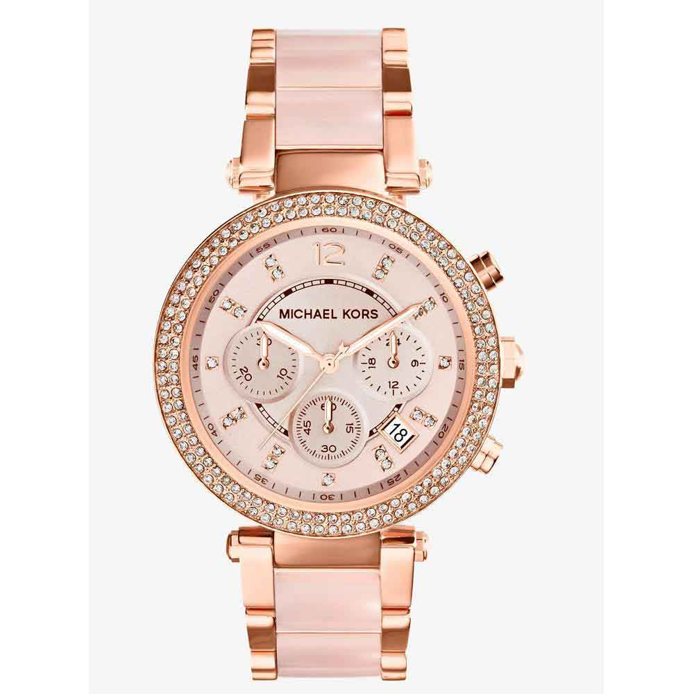 Michael Kors - Women's Parker Acetate Watch (Rose Gold)