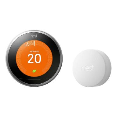 Google Nest Wi-Fi Smart Learning Thermostat 3rd Generation - Stainless Steel