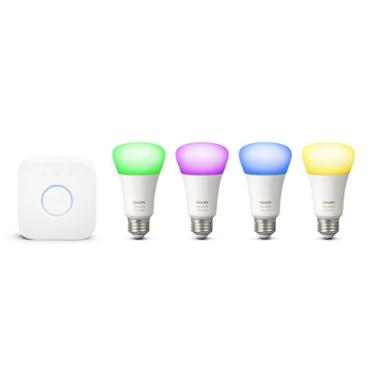 Phillips Hue White/Colour A19 4 Piece Starter Kit
