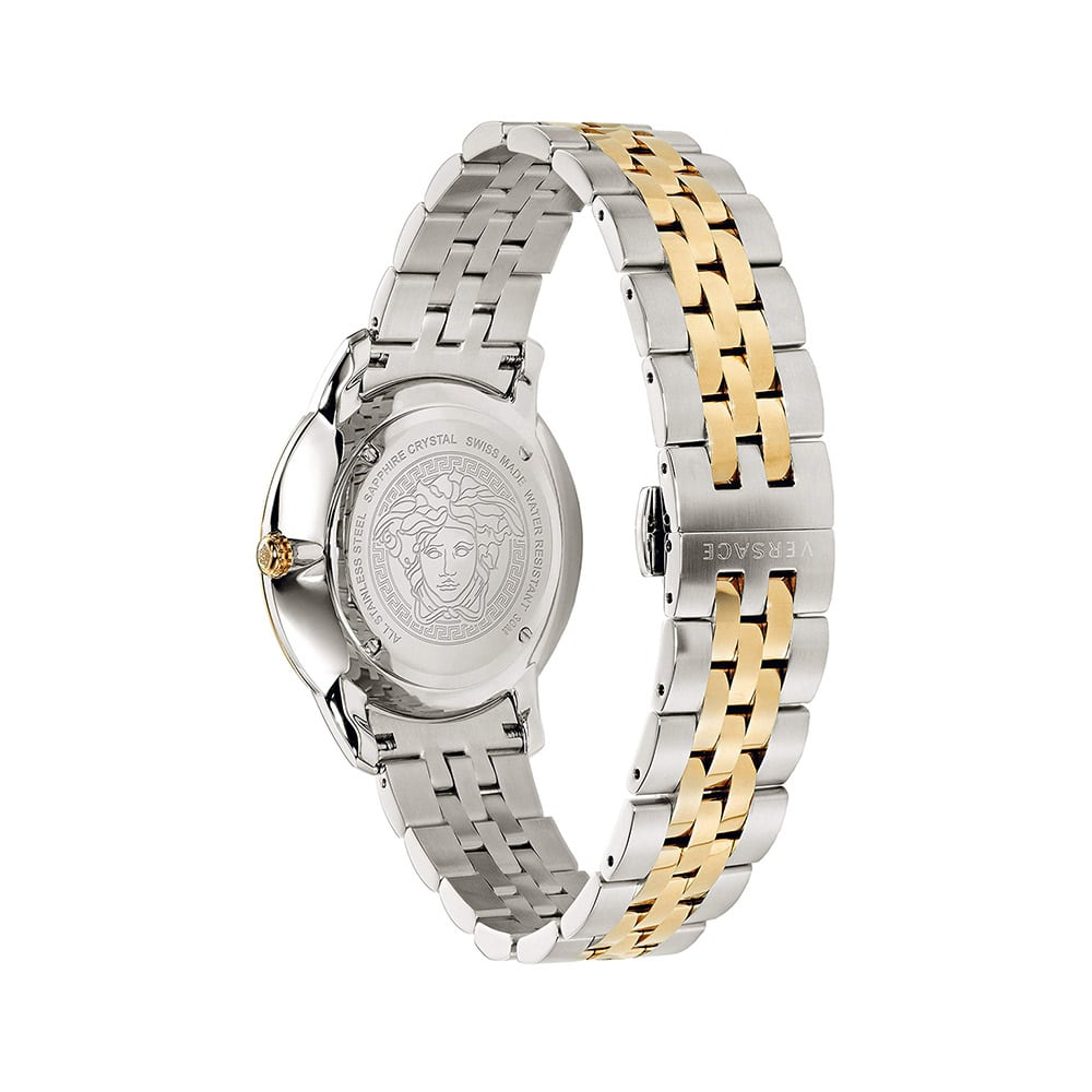 Versace V-Urban Gray Dial Gold Tone Stainless Steel Bracelet Watch (Men's)