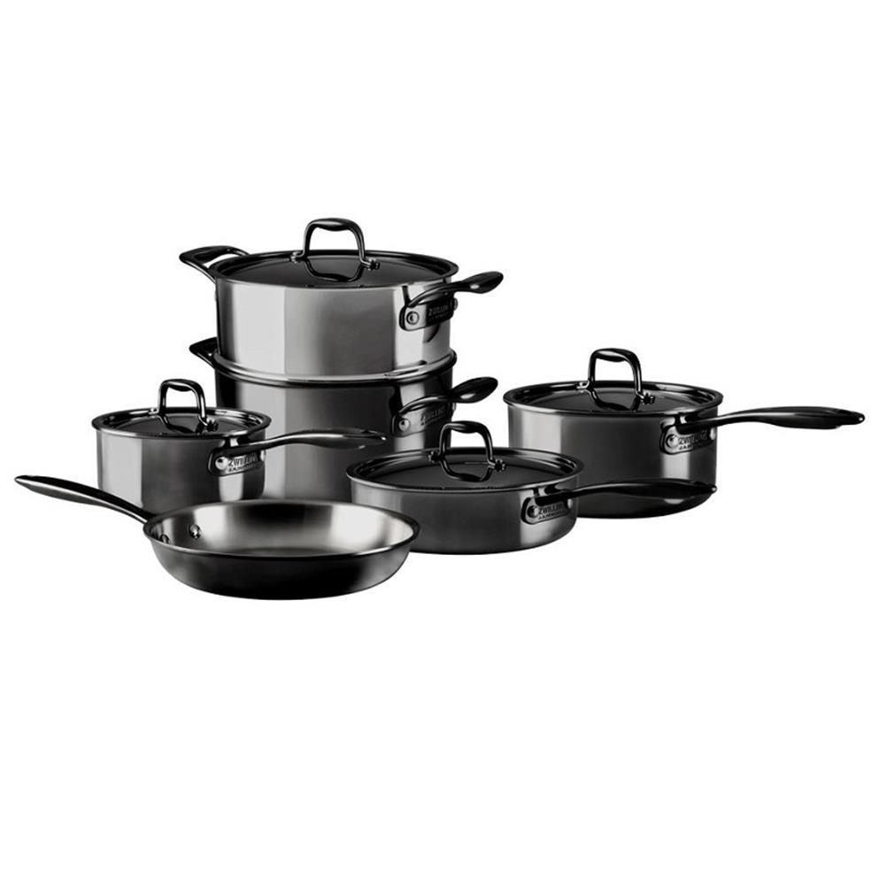 ZWILLING Nero 10 Pieces 18/10 Stainless Steel Cookware Set