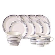 Royal Daulton Pacific Lines 16 Piece Porcelain Dinnerware Set