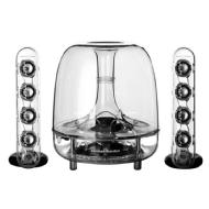 Harman Kardon SoundSticks III 2.1 Multimedia Speaker System (3-Piece) (Clear)