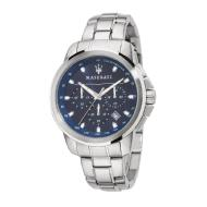 Maserati Men's Successo Chronograph Blue Dial Stainless Steel Watch