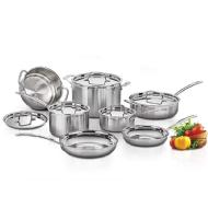 Cuisinart 12 Piece MultiClad Pro Tri-Ply Stainless Steel Cookware Set