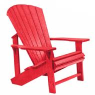 C R Plastics Classic Adirondack Chair (Red)
