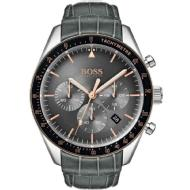 Hugo Boss Trophy Grey with Stainless Steel Leather Men's Watch