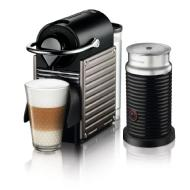 Breville Pixie Coffee Machine by Breville with Aeroccino Milk Frother (Titan)
