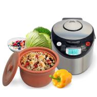 VitaClay® 5-in-1 Smart Organic Multi-Cooker/Slow Cooker/Steamer/Rice Cooker/Yogurt Maker - 6 Cup