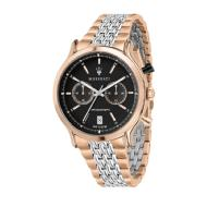 "Maserati ""LEGEND"" Men's Chronograph Watch with Rose Gold and Silver Stainless Steel Bracelet"