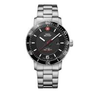 Victorinox Swiss Military SEA FORCE 43mm Watch Black Dial, Stainless Steel Bracelet (Large)