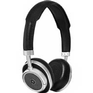 Master & Dynamic MW50 Wireless On or Over Headphone (Silver Metal/Black Leather)