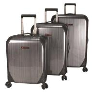 AirCanada deluxe 3 pcs set  Hardside spinner - Charcoal