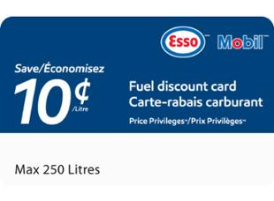 Esso and Mobil Price Privileges™ Fuel Discount Card