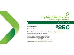 HigherEdPoints Gift Certificate