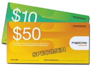 Mapletree VivoCity From $20 to $100 Voucher
