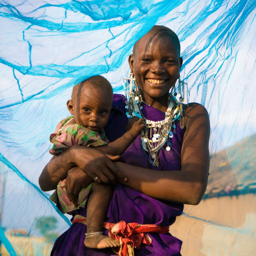 Your donation could provide 12 long-lasting insecticidal mosquito nets to protect children from malaria