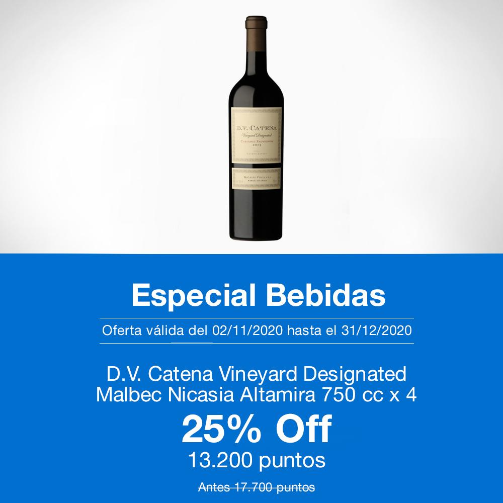 D. V. Catena Vineyard Designated Malbec Nicasia Altamira 750 cc x 4