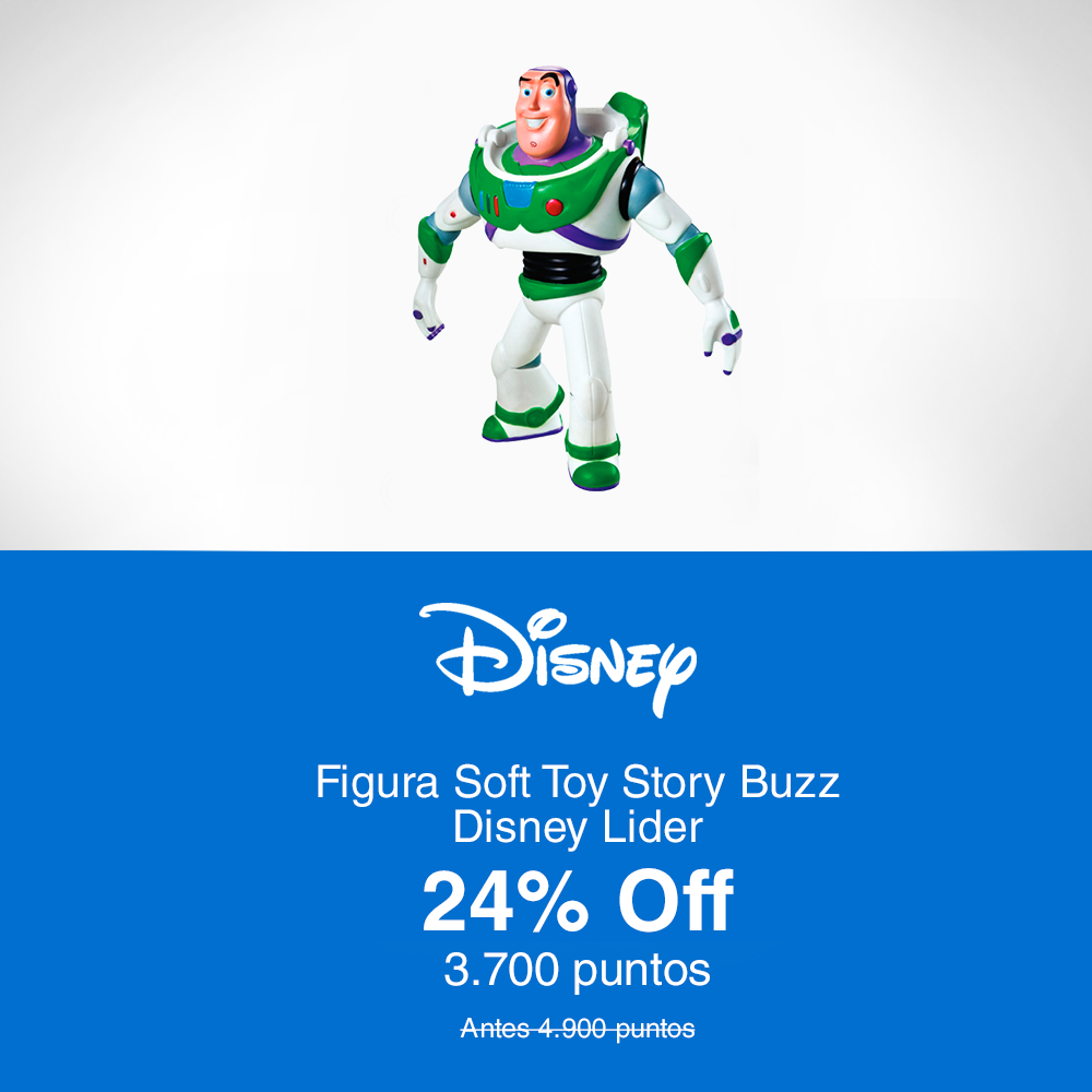 Lider Figura Soft Toy Story Buzz Disney