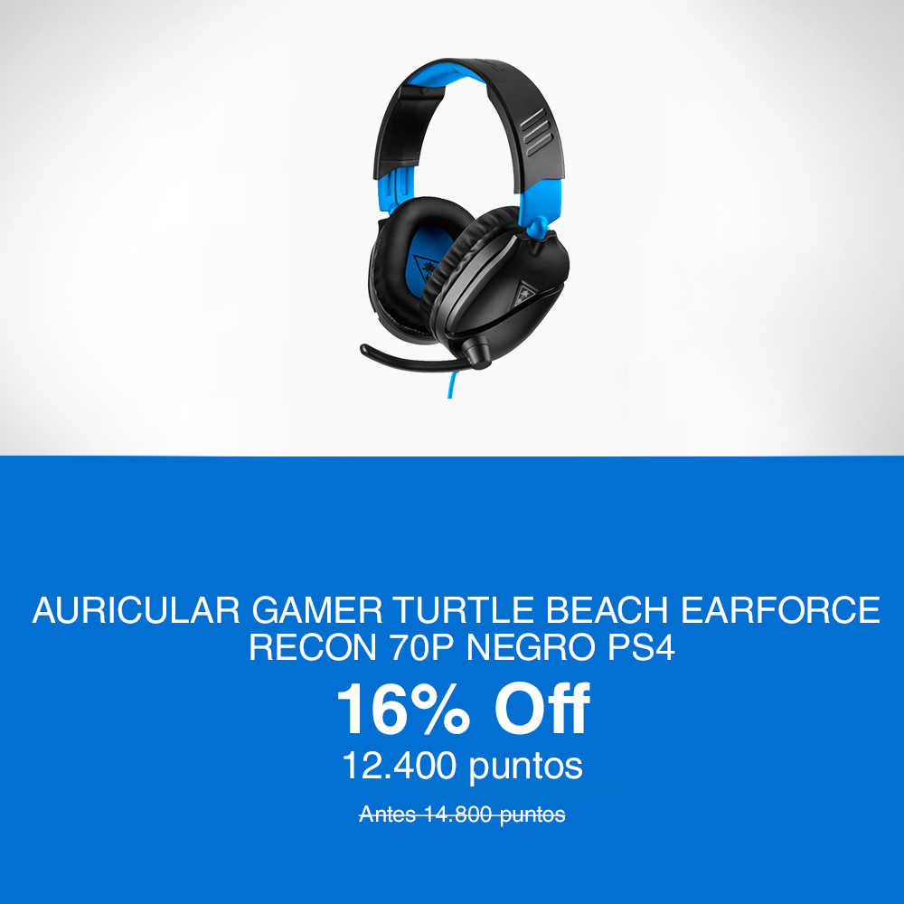 Auricular Gamer Earforce Recon 70P Negro PS4