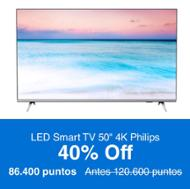 "Philips LED Smart TV 50"" 4K"