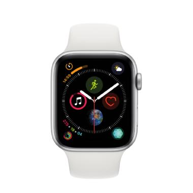 APPLE WATCH SERIES 4 GPS + CELLULAR, 44MM CAJA DE ALUMINIO PLATA CON CORREA DEPORTIVA BLANCA