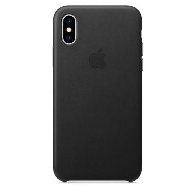 Funda de Piel para el iPhone XS Max Color Negro