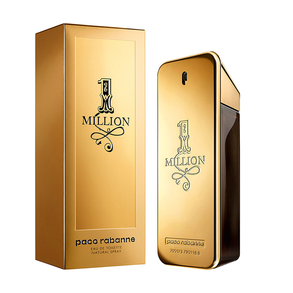 Fragancia Loción One Million de Paco Rabanne.