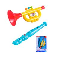 Fisher price Set musical flauta y trompeta