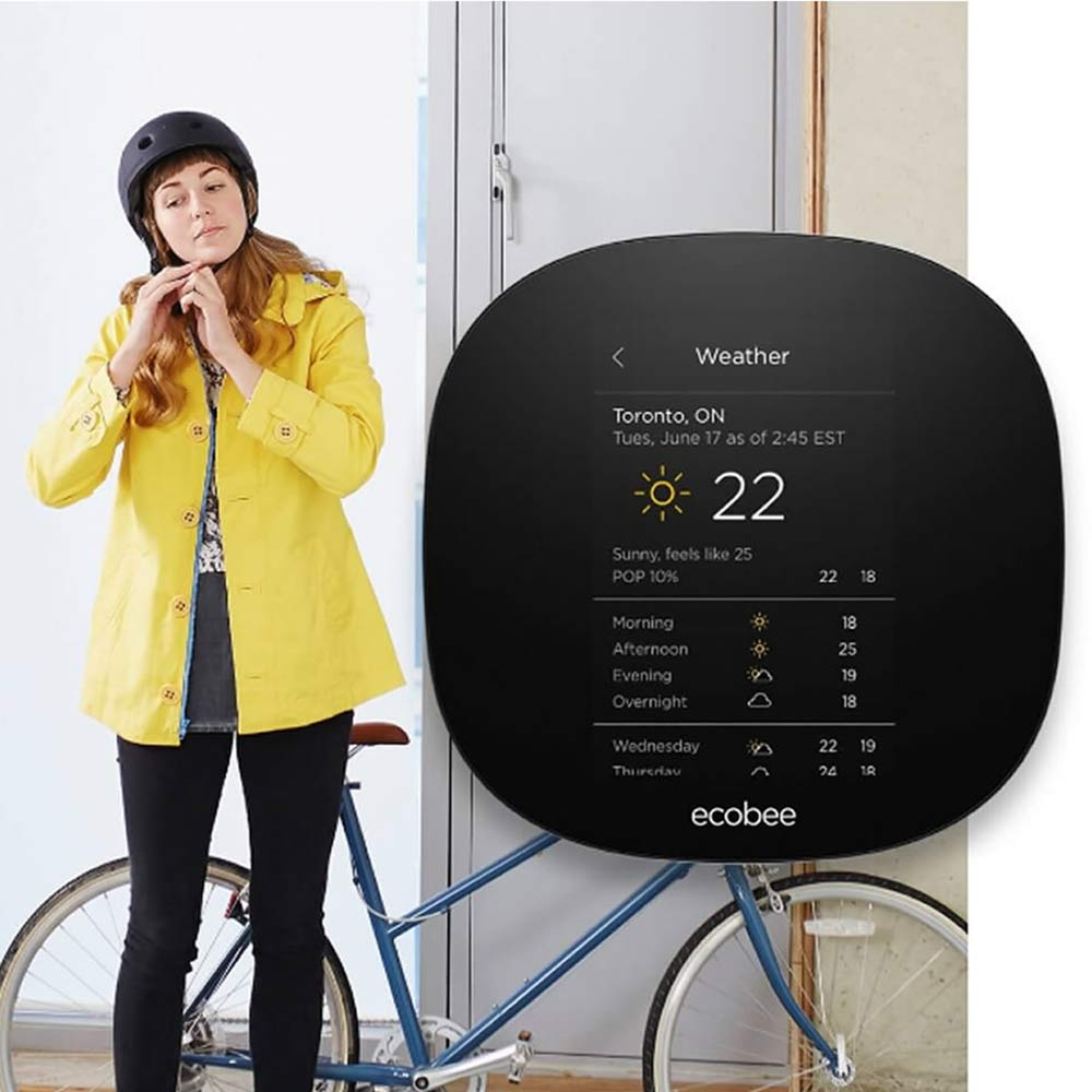 Thermostat Ecobee3 Wi-Fi programmable avec Smart Home Integration d'Ecobee Lite