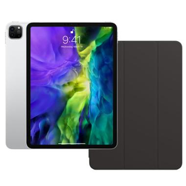 iPad Pro de 11 po Wi-Fi d'Apple (argent) + Smart Folio pour iPad Pro de 11 po (gris anthracite)