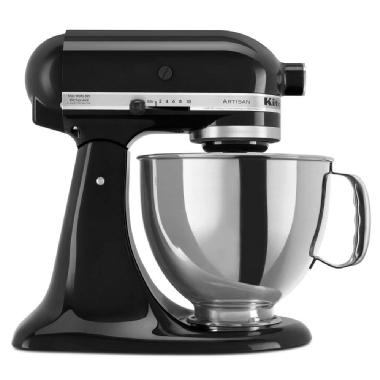Batteur sur socle à tête inclinable de 4,73 L de la série Artisan<sup>MD</sup> de KitchenAid (noir onyx)