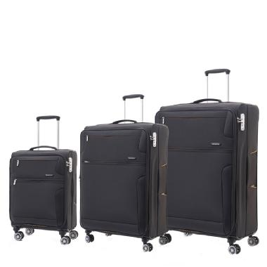 Ensemble de 3 valises extensibles à coque souple de Crosslite de Samsonite (Noir)